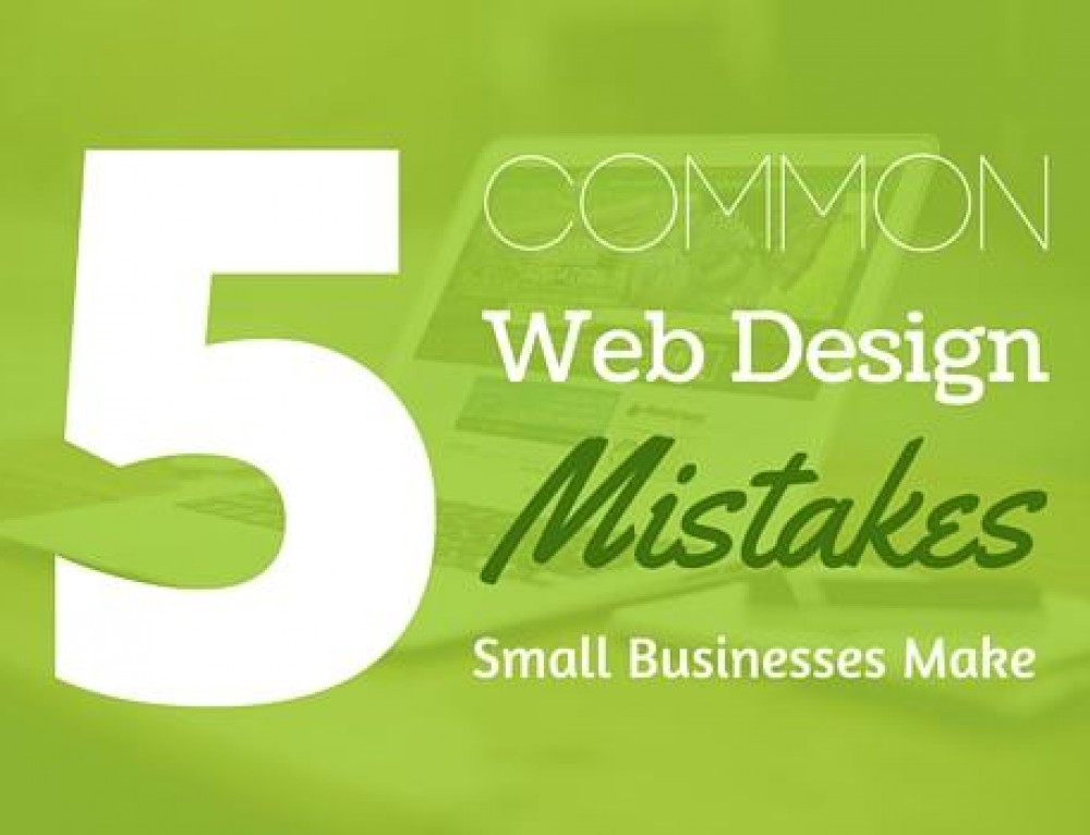 Main 5 Web Design Mistakes