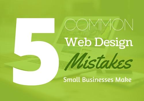 Main 5 Web Design Mistakes